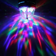 Въртяща се цветна лампа