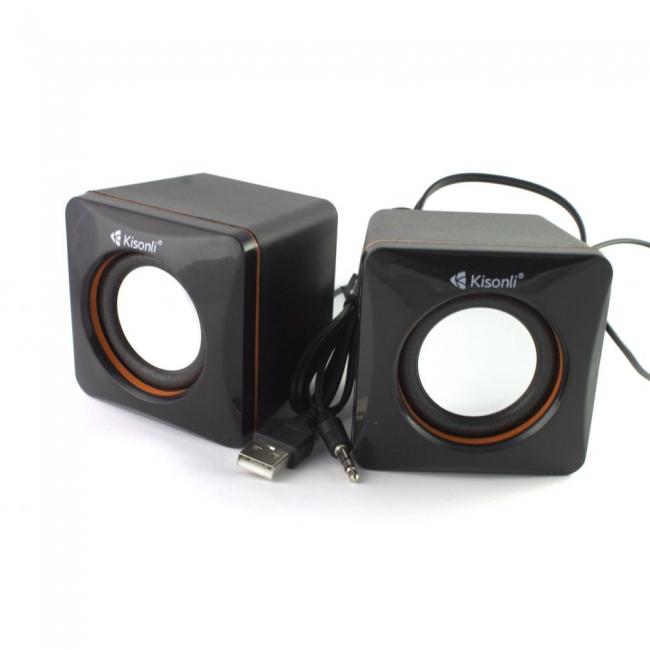 Тонколони Kisonli V400, 3W*2, USB, Черни
