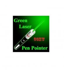 Зелен лазер 50mW с 5 броя дискотечни приставки