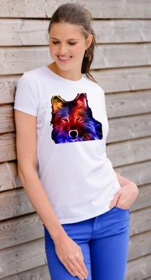 Тениска с щампа вълк