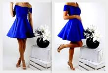 Ефирна разкроена рокля със странични презрамки