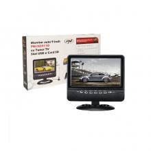 Монитор 9 инча PNI NS911D, USB слот и SD карта, AV вход, аналогов TV тунер,