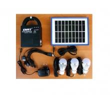 Соларна осветителна система с акумулатор и соларен панел за къмпинг и риболов