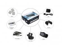 Видеорегистратор - DVR две камери x3000 с GPS + 16GB карта