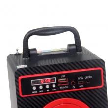 Преносима колонка с USB, FM, дистанционно и дисплей SU-206