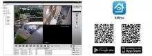 Комплект за видео наблюдение PNI House PTZ1200 Full HD - NVR и 4 външни камери
