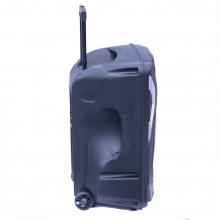 Преносима Караоке Тонколона 15 инча THS-B1501BTW с два безжични Микрофона, Bluetooth, FM, USB, SD