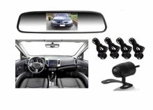 Огледало и камера за паркиране и парктроник за кола АТ 112M 3 в 1