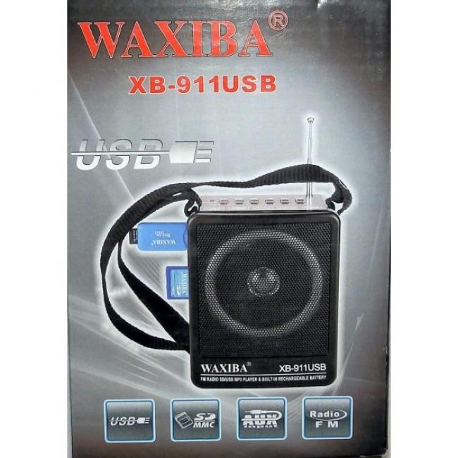 Преносимо 3 в 1 мини FM радио, SD, USB Waxiba- батерия и 220v