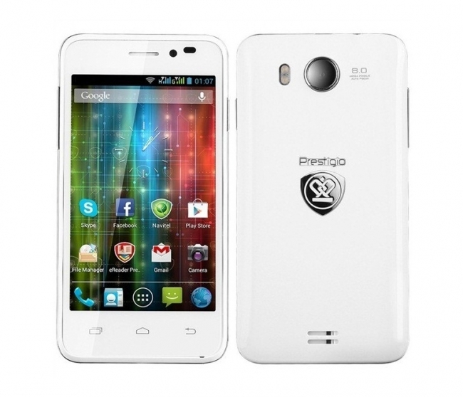 Смартфон PRESTIGIO MultiPhone PAP5400 DUO - Quad core - БЯЛ