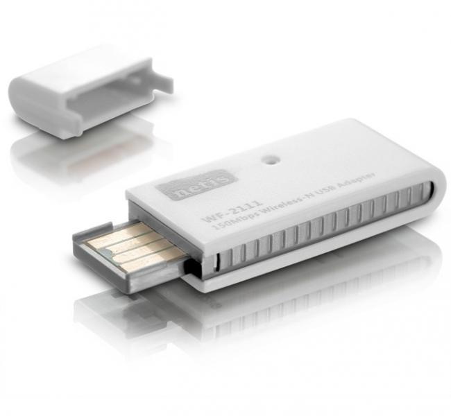 Netis WF-2111, 150Mbps Wireless N USB Adapter, вградена антена