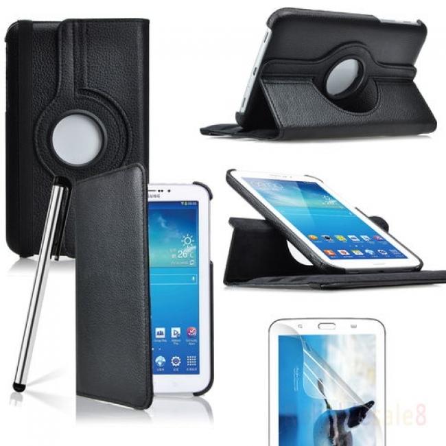 Кожен калъф за Samsung Galaxy TAB 3 360 градуса - 7 инча - P3200-P3210