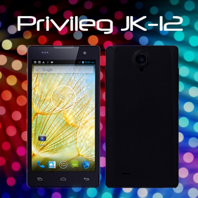 Четириядрен смартфон Privileg JK-12 - 5 инча, 1GB RAM, 2 СИМ, 3G, ЧЕРЕН