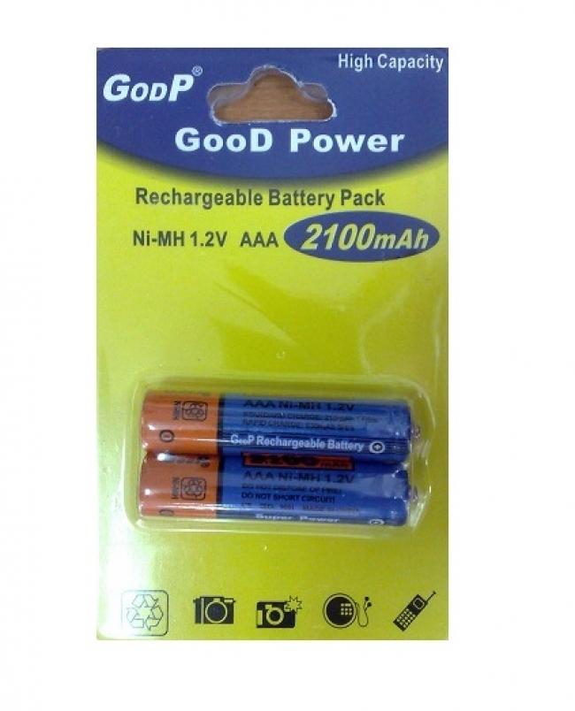 Акумулаторни батерии AAA (R03) 2100 mAh
