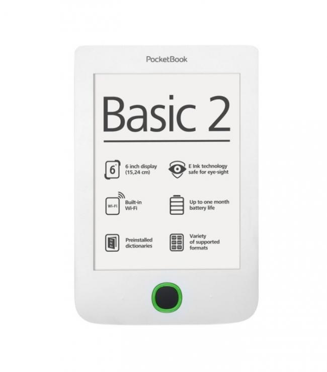 Електрона книга PocketBook 614 Basic 2 - Бяла