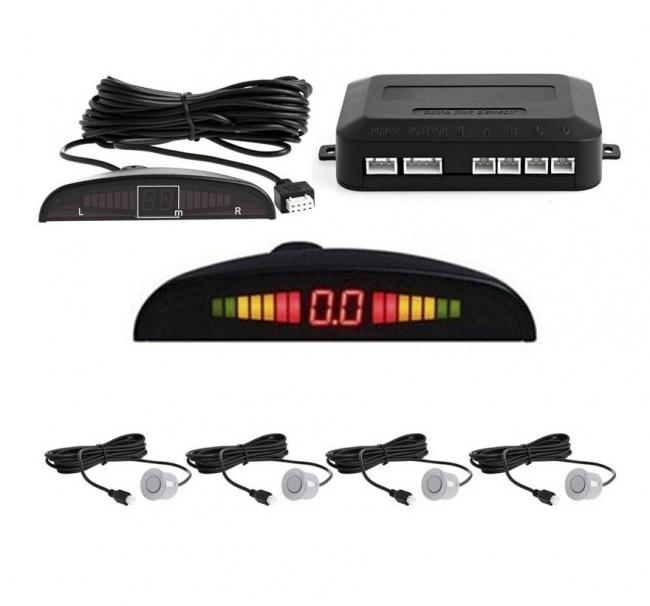 Парктроник за кола с 4 датчика LCD дисплей и звук - СИВ