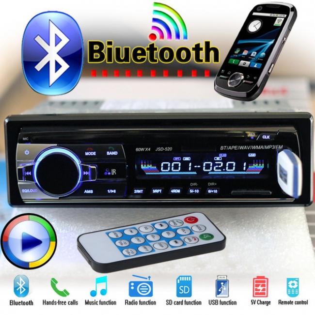 MP3 аудио плеър за кола с Bluetooth и дистанционно АТ 520 - MP3, SD, USB