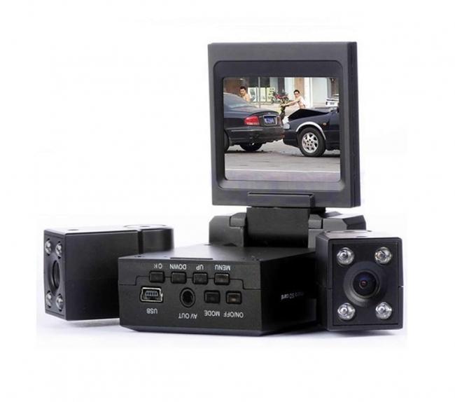 Видеорегистратор - DVR с две камери AT Dual 9 + 16GB карта