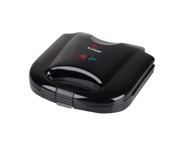 Тостер сандвич Elekom EK-7061 B, Незалепващо покритие, 750W, Черен