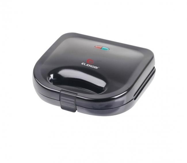 Тостер сандвич Elekom EK-1061 B, Мощност 750W, Черен