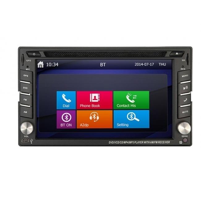 Универсална мултимедия двоен дин ATMSTR02 GPS, DVD, WinCE, 6.2 инча