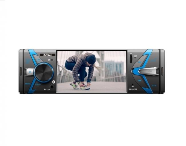 Радио MP5 плеър за кола 2Drive 9702 - 4 инча, 2USB, AUX, SD, BT, Дистанционно