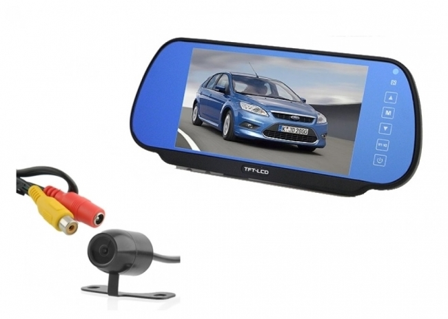 Огледало със 7 инча вграден монитор + камера за задно виждане