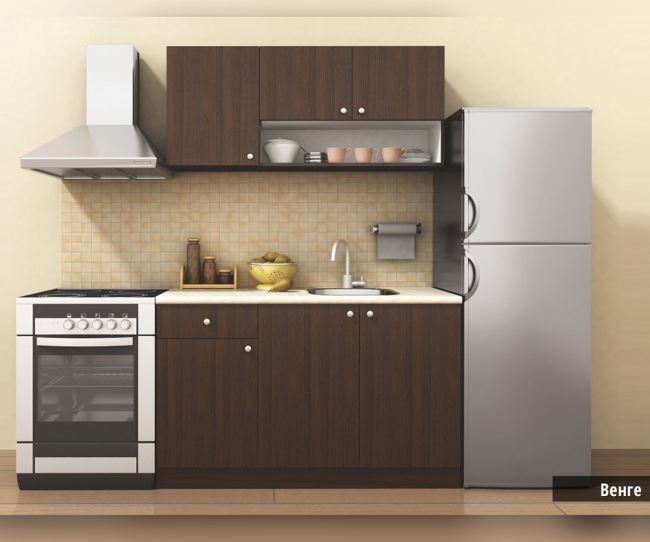 Стилна блок-кухня Мареа 2 с цял термоплот