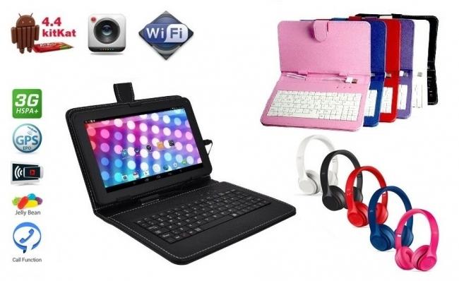 Таблет Diva IPS - четириядрен, Android 7 + Слушалки + Клавиатура