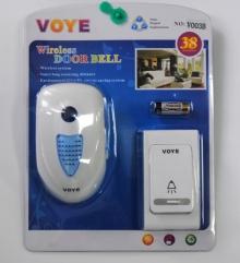 Безжичен звънец със светлинна сигнализация VOYE V003A