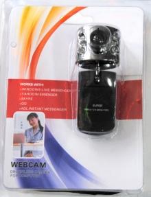Уеб камера с вграден микрофон и лампички