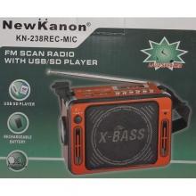 FM радио, MP3 с USB и карта, фенер и караоке функция