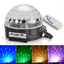 LED Диско лампа с усилвател, МП3 и дистанционно