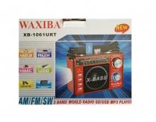 РАДИО WAXIBA XB-1061URT MP3 FM С USB И SD