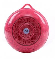 Тонколонка с Bluetooth, USB, SD, FM, Розова - Del22050