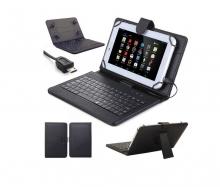 Калъф с кирилизирана клавиатура за таблети 7 и 8 инча - micro USB + писалка