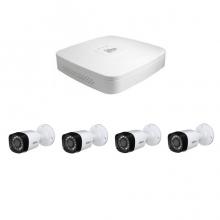 4 - канален DVR за видеонаблюдение с 4 булет 1MP камери, връзка с интернет и 3G