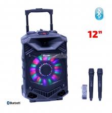 Преносима Караоке Тонколона 12 инча THS-B1201BTW с два микрофона, батерия, Bluetooth, FM, USB, SD, 2