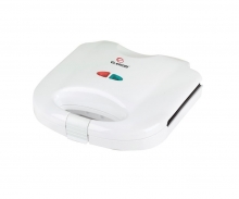 Тостер сандвич Elekom EK-7061 W, Незалепващо покритие, 750W, БЯЛ